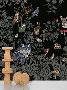 Fôret Noir wallpaper by Nathalie Lété- love it but don't know where I'd put it.