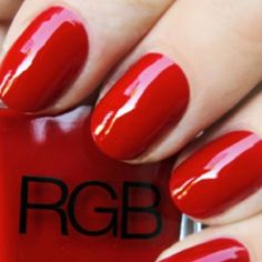 #RGBcosmetics #Red | Nailed by @nailinghwood  | www. RGBcosmetics.com/Red