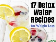 These 17 fruit infused detox water recipes are deliciously healthy. These fruit infused waters are refreshingly different than your average water.