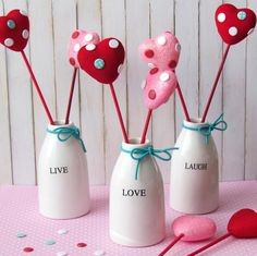 Dollar Store Valentine's Day Crafts - Page 3 of 6 - The Crazy Craft Lady Heart Decorations, Valentines Day Decorations, Valentine Day Crafts, Valentine Heart, Happy Valentines Day, Holiday Crafts, Holiday Fun, Valentine Ideas, Dollar Store Crafts