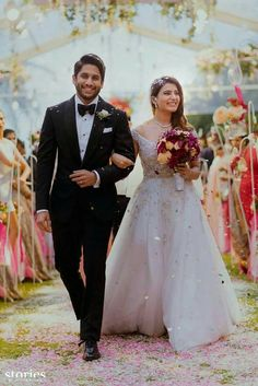 Check out these pictures of Samantha Ruth Prabhu and Naga Chaitanya from their wedding right here! - Samantha Ruth Prabhu - Naga Chaitanya's Catholic ceremony is like Ye Maaye Chesave Part 2 - view pics Wedding Couple Poses Photography, Indian Wedding Photography, Wedding Poses, Wedding Photoshoot, Wedding Couples, Wedding Ideas, Romantic Couples, Wedding Shoot, Christian Wedding Dress