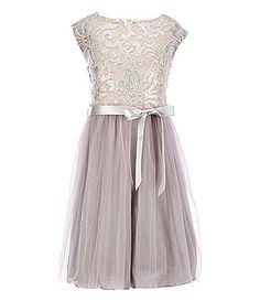 Xtraordinary Big Girls 716 SequinLace Tulle Dress #Dillards