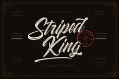 Striped King Vintage Script | Pixelify | Best Free Fonts, Mockups, Templates and Vectors.