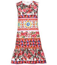 mytheresa.com - Printed Cotton Dress - Dolce & Gabbana   mytheresa - Luxury Fashion for Women / Designer clothing, shoes, bags