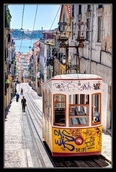 Lisboa, Portugal  i loved the yellow street cars in lisbon...