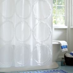 Ruffle Rings Shower Curtain from PBteen. Saved to Epic Wishlist. Shop more products from PBteen on Wanelo. Flower Shower Curtain, Floral Shower Curtains, Shower Curtain Rings, Cheap Bathroom Remodel, Bathroom Ideas, Teen Girl Rooms, Teen Bedroom, Diy Shower, Bath Shower
