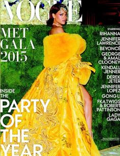 Rihanna on the cover of Vogue's Met Gala Issue