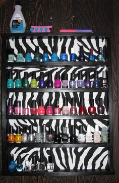 Zebra Nail Polish Rack 48