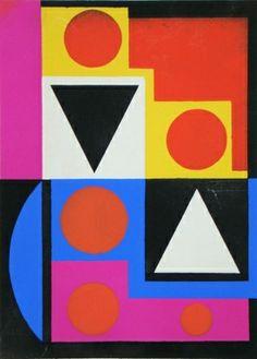 Auguste Herbin - Témoignages pour l'art abstrait, 1952, Pochoir