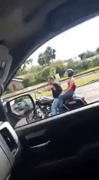 Road rage, I sure hope that jerk went to jail! Do not pass go, do not collect two hundred dollars and somebody throw the key away!! I hope the bikers are ok!