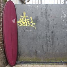 watershed shegg mid length egg surfboard maroon resin tint
