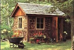 Rustic Potting Sheds | rustic shed. #potting_shed #greenhouse | Greenhouses & Potting S ...