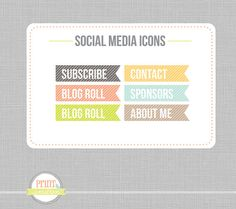 Social Media icons Social Networking Icons  web by PrintSmitten, $10.00