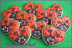 Valentine Love Bugs - Cute Mini Sugar Cookies