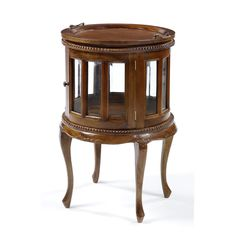 Round Drinks Cabinet - would love to give this a shabby chic makeover!
