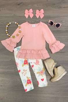 Baby Girl Pants – Baby and Toddler Clothing and Accesories Legging Outfits, Printed Leggings Outfit, Pants Outfit, Print Leggings, Baby Outfits, Toddler Outfits, Kids Outfits, Baby Dresses, Toddler Fashion