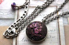 VINTAGE Czech Glass Necklace Demi Pendant Necklace by veryDonna