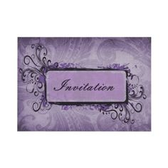 #purple #violet #weddings #invitation #elegant