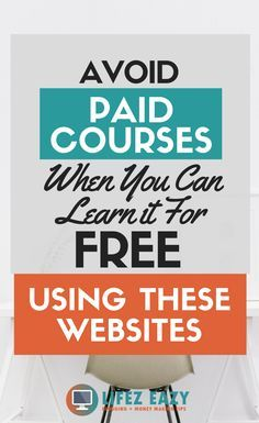 11 Best Educational Websites For Taking Online Courses Lifez Eazy - Online Courses - Ideas of Online Courses - Learn a new skill language or take a course using these websites for FREE. Dont waste your money on paid courses when you can learn it for free. Learn A New Skill, Skills To Learn, Free Courses, Online Courses, Online Websites, Free Classes Online, Learn Online, Kids Online, Free Online Language Courses