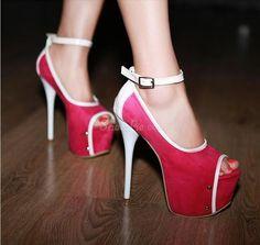 Colorful Peep Toe Stiletto Heels Platform Pumps  Shoespie.com