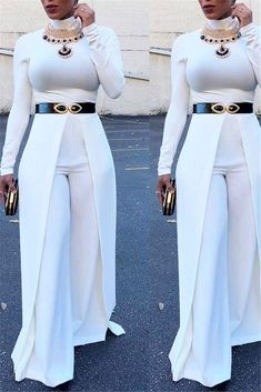 High Collar Wide Leg - January 19 2019 at African Attire, African Fashion Dresses, African Dress, Classy Dress, Classy Outfits, Cute Outfits, Girl Fashion, Fashion Looks, Fashion Outfits