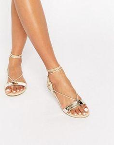 ASOS FLAWLESS Tie Leg Sandals