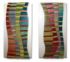 """""""Symphony One and Two"""" Acrylic on Wood Playing around with texture and color Sculpture, Texture, Wood, Painting, Design, Art, Surface Finish, Art Background, Woodwind Instrument"""
