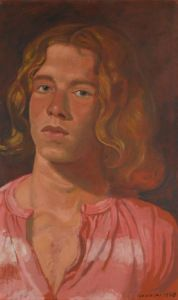 Yannis Tsarouchis (Greek, Portrait of a Young Man Queer Art, Caravaggio, Portrait Art, Male Portraits, Realism Art, Gay Art, Conceptual Art, Painting & Drawing, Michelangelo