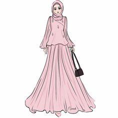 66 Trendy Fashion Model Sketch Design To Draw Muslim Fashion, Modest Fashion, Hijab Fashion, Trendy Fashion, Fashion Art, Fashion Models, Girl Fashion, Fashion Dresses, Fashion Clothes