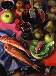 geraldine o'neill artist - Google Search Colouring, Colored Pencils, Composition, Fruit, Vegetables, Google Search, Painting, Food, Colouring Pencils