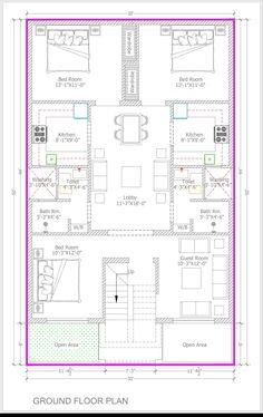 Bestie floor plan room kitchen c Duplex House Plans, House Layout Plans, Floor Plan Layout, Family House Plans, Small House Plans, House Floor Plans, Home Map Design, Home Design Floor Plans, 30x50 House Plans