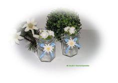 Alpenstil Deko Schmuckglas-Set bayerisch von Claudia`s Geschenkparadies auf DaWanda.com
