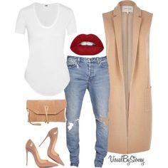 A fashion look from August 2015 by fashionaffiliated featuring Helmut Lang, River Island, Christian Louboutin and Zign