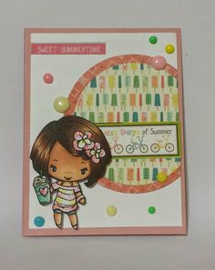 The Greeting Farm altered stamp frappi anya body magical bean head