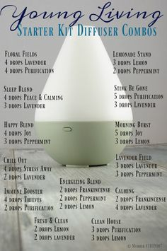 Young Living Starter Kit Diffuser Combinations