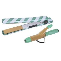 """CHI Air Sweet Mint 1"""" Ceramic Flat Iron with FREE Travel Curling Iron"""