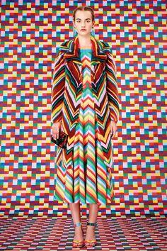 Valentino Rainbow Zigzag Minaudiere - Resort 2015