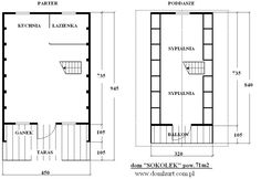pow. 71 m2 Cabana, Floor Plans, Frames, Houses, Alpine House, Country Houses, Homes, Frame, Cabanas