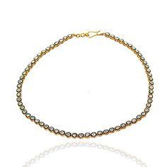 Rose Antique Cut Polki Diamond #925 #Silver Vintage Victorian Estate Mughal Style Anniversary Wedding Party Wear Necklace    rose cut diamond ctw : 8.70   rose cut diamond cl... #diamondnecklace #sterling #silver #gemstone #stone #labradorite #onyx #turquoise #amethyst #quartz #red #green #yellow ➡️ http://jto.li/deLqE