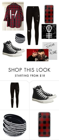"""Twenty one pilots"" by awesomegoldfish ❤ liked on Polyvore featuring Converse"