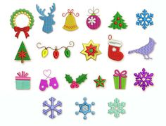 Save 75% 20 Christmas Mini Embroidery Designs by EmbroideryLand