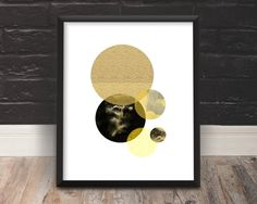 Circle Art Modern Minimalist Black and Gold Large Art Home Decor Modern Printable Art Minimalist Poster Modern Wall Art Abstract Picture Art