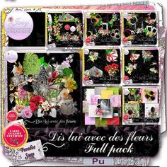 NEW - Dis lui avec des fleurs by JosyCréations Créations Available @ http://www.digi-boutik.com/boutique/index.php?main_page=product_info&cPath=106_218&products_id=10856