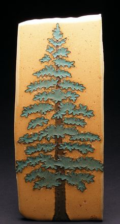 Wow .... two of my favorites together: pine tree ceramic tile !