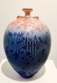 Ted Secombe Pink and Blue Vase (Australia)