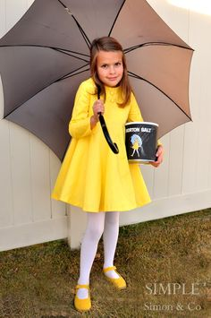 Morton Salt Girl costume by Simple Simon and Company: When it rains..... with pattern and sewing tutorial (or use the inspiration for an adult version)