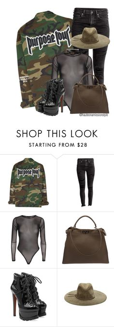 """Purpose Tour."" by hauteonamission ❤ liked on Polyvore featuring Fendi, Alaïa, Emilio Pucci and Fallon"