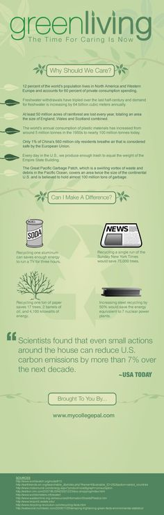 Why should you live 'green?' Here are several reasons!
