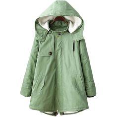Outwears Novelty Warm Casual Stylish Hooded Long Sleeve Pockets Coat