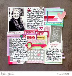 Jill is showing how she uses Elle's Studio tags as journaling prompts!
